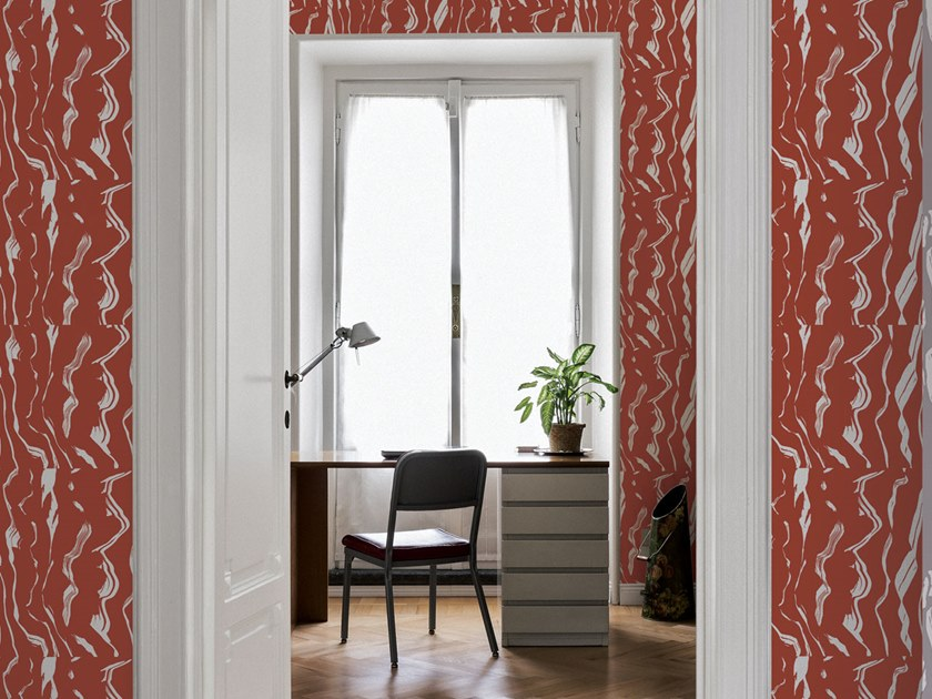 Motif wallpaper BRUSH TILE by Texturae