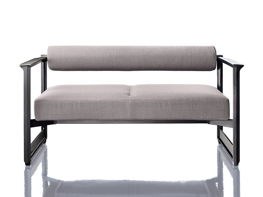 2 seater fabric sofa with removable cover BRUT | 2 seater sofa by Magis