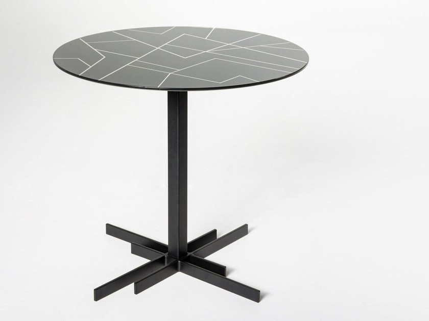 Round glass coffee table BRYANT | Glass coffee table by Elli Design
