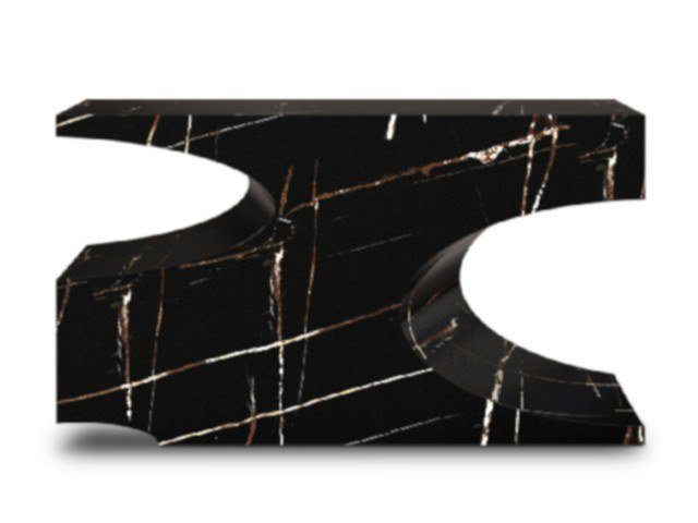 Consolle rettangolare effetto marmo BRYCE II by BRABBU