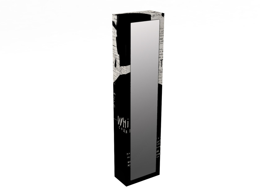 MDF wall cabinet with mirrored door BS-5V by MOMENTI