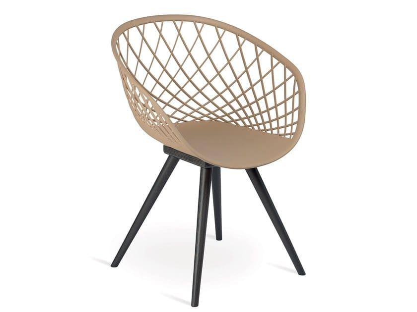 Polypropylene chair BUBBLE by Natisa