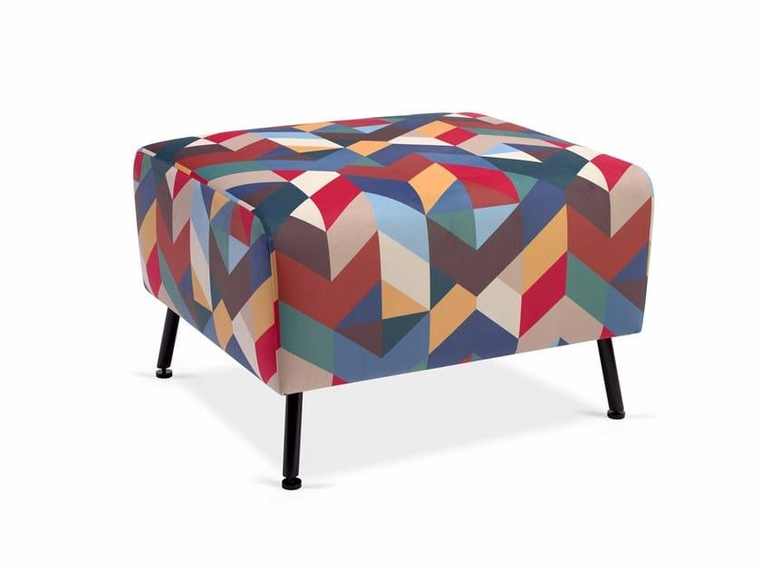 Rectangular fabric pouf BUBBLE PUF by Fenabel