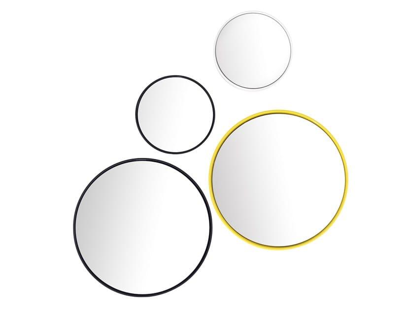 Round framed wall-mounted mirror BUBBLE by Schönbuch