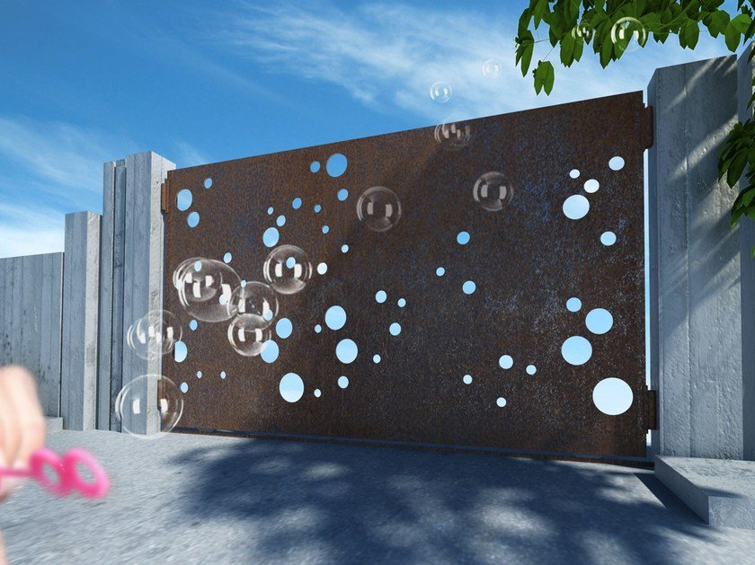 Sliding iron gate BUBBLES 2666 by Fabbridea