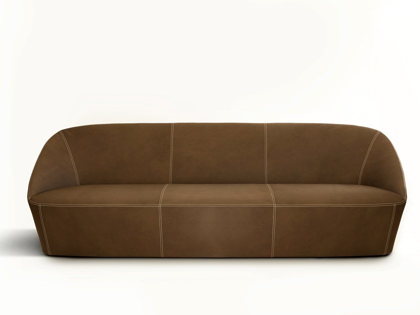 3 seater leather sofa BUCKET by spHaus