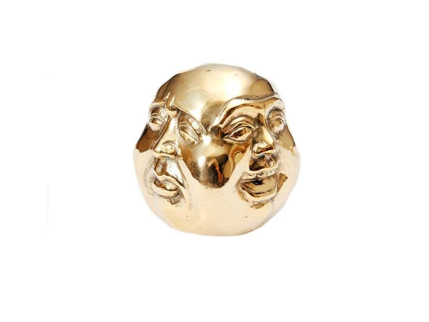 Brass decorative object BUDDA HEAD FOR FACES by Bazar Bizar