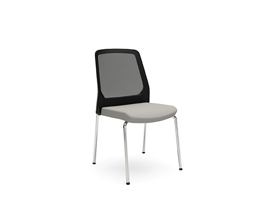 Upholstered mesh reception chair BUDDY IS3 420B by Interstuhl