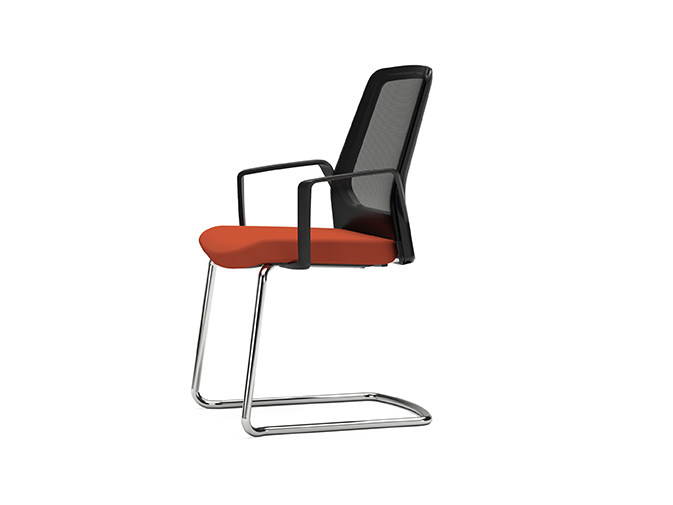 Cantilever mesh chair with armrests BUDDY IS3 570B by Interstuhl