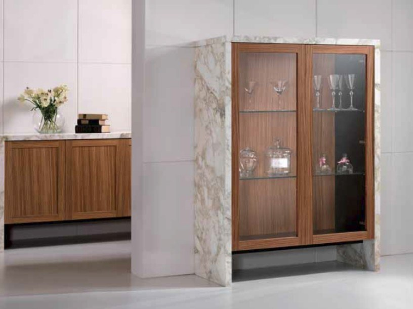 Wood and Calacatta marble display cabinet BUFFET | Display cabinet by International Marmi