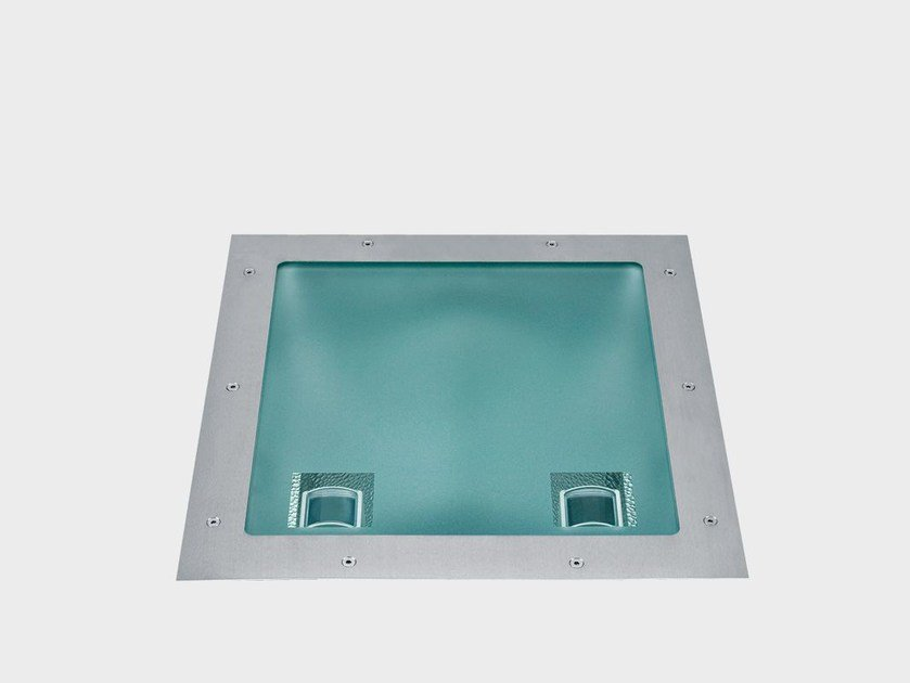 LED walkover light steplight TAPIS LUMIERE DRIVE OVER RECESSED by Cariboni group