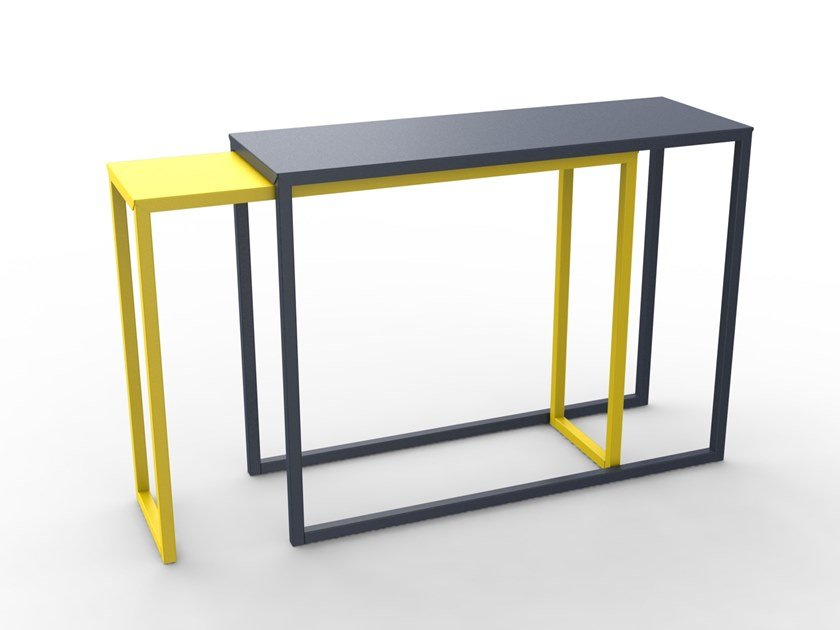 Powder coated steel console table BURGA by Matière Grise
