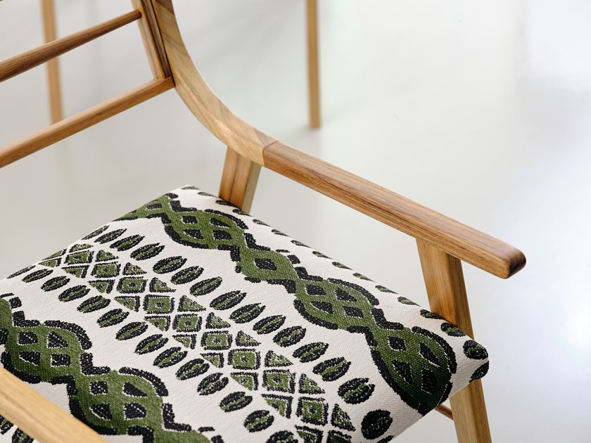 Fabric with graphic pattern BURKINA by Aldeco