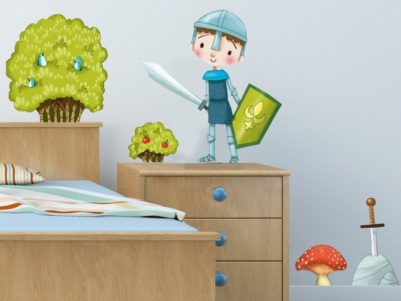 Kids wall sticker BUSHES AND MUSHROOMS by ACTE-DECO