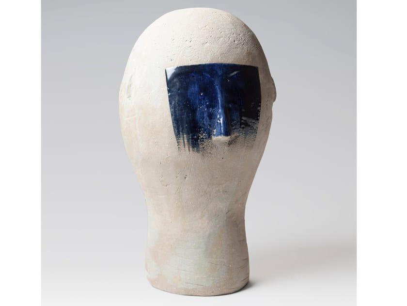 Soprammobile / scultura in gres porcellanato smaltato BUST 07 by Pascale Girardin