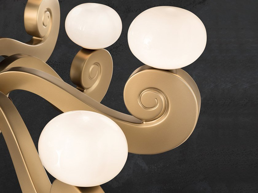 Expanded polyurethane chandelier BUSTIER S3+3 by Masiero