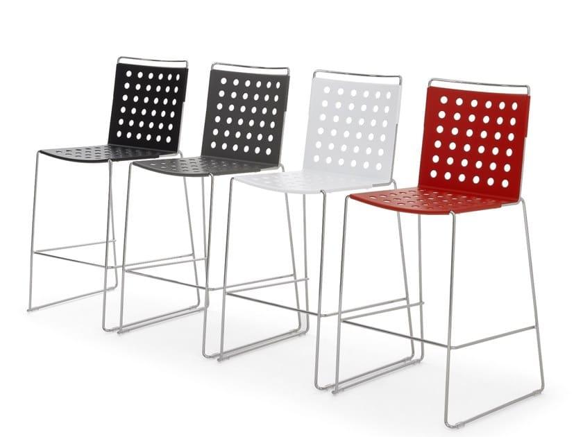 High metal stool with back BUSY | High stool by Diemmebi