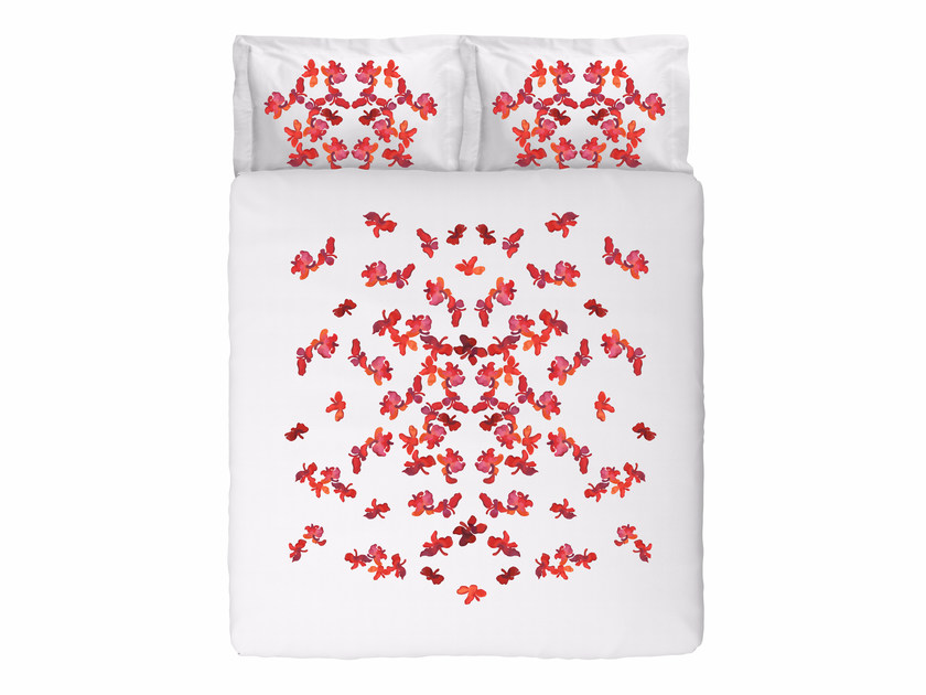 Coordinato letto jacquard in cotone con motivi floreali BUTTERFLIES KING SET by Sans Tabù