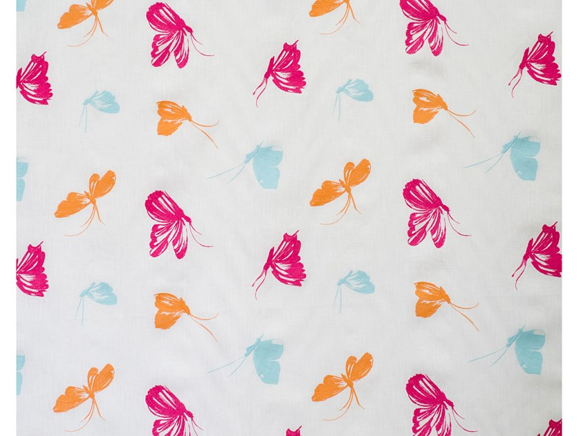Fabric with graphic pattern for curtains BUTTERFLY DANCE by Aldeco