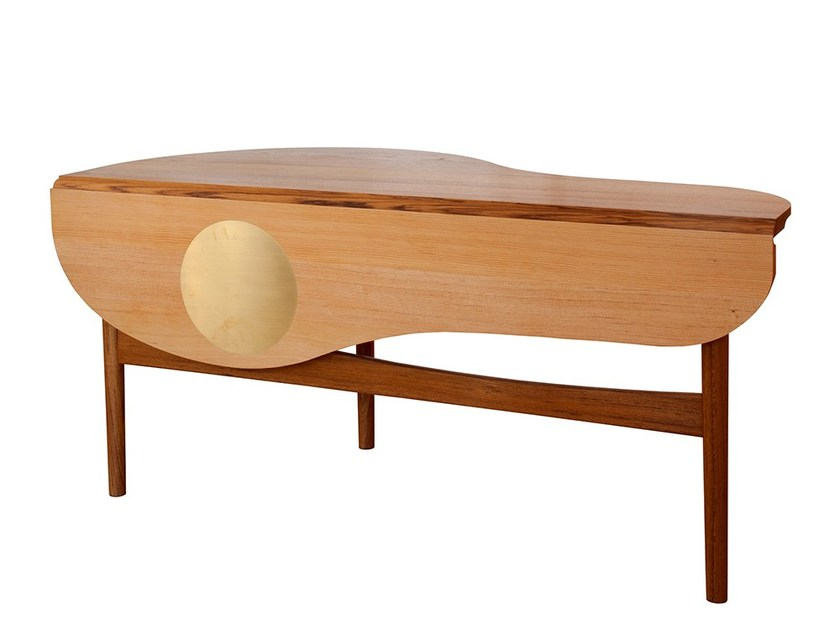 Teak coffee table BUTTERFLY by Onecollection