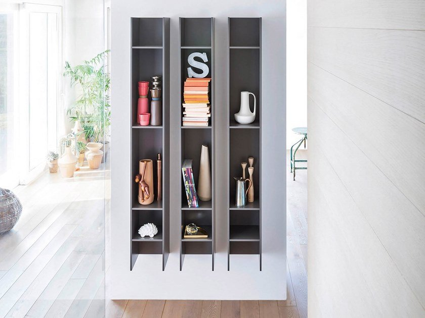 Vertical wall cabinet BUTTERFLY | Vertical wall cabinet by Novamobili