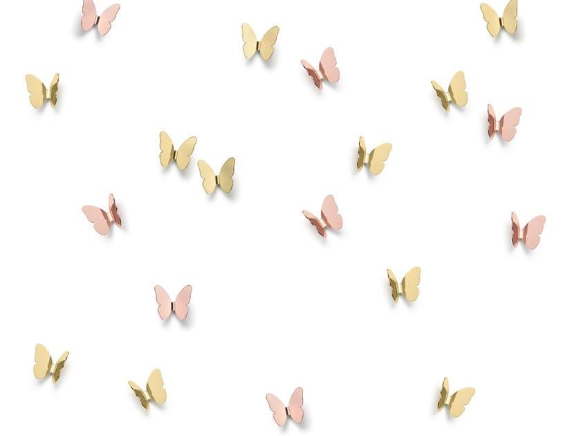 Appendiabiti da parete in ottone BUTTERFLY | Appendiabiti da parete by GHIDINI1961