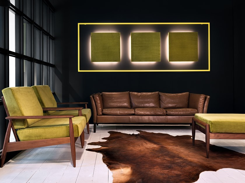 Decorative acoustical panel with Integrated Lighting BuzziClipse by BuzziSpace
