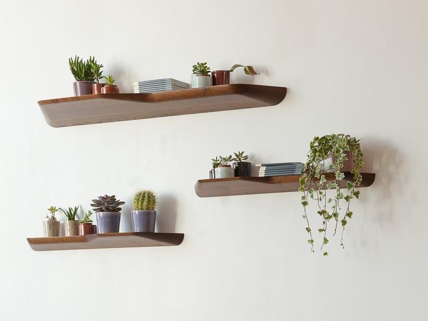 Wooden wall shelf BuzziPlank by BuzziSpace