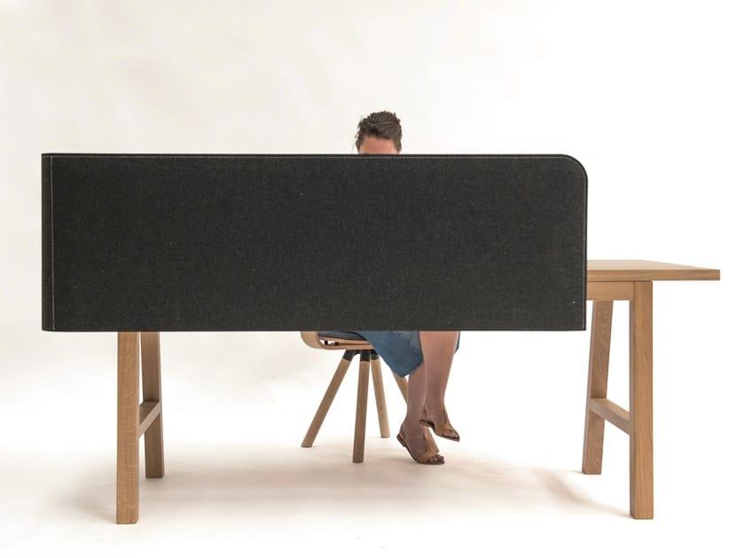 Acoustical desk panel BuzziWrap Desk by BuzziSpace