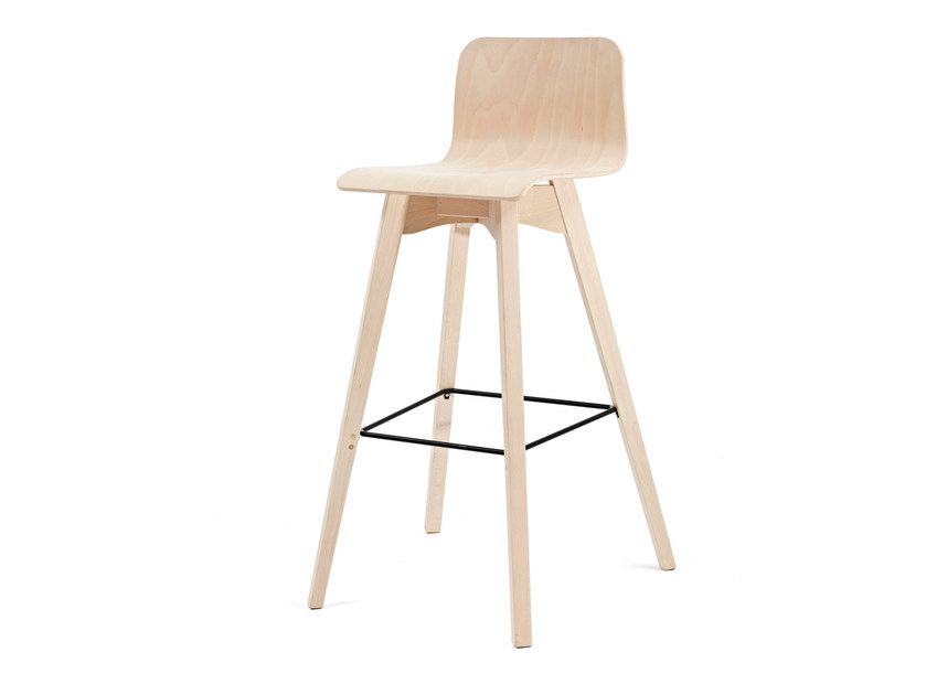 Wooden chair with footrest BUZZY KL62 by Z-Editions