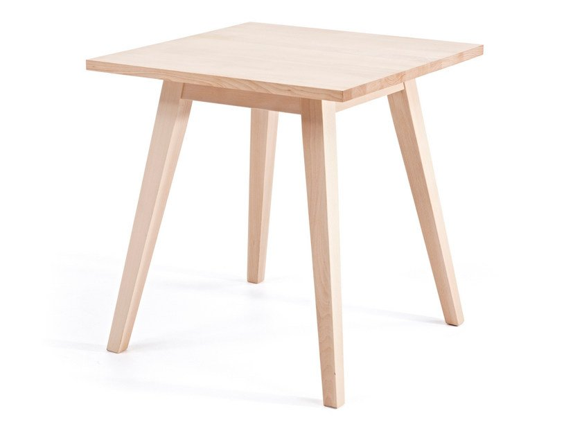 Square wooden table BUZZY T H76 by Z-Editions