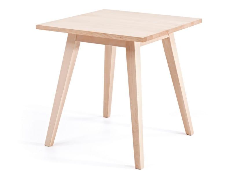 Tavolo quadrato in legno BUZZY T H76 by Z-Editions