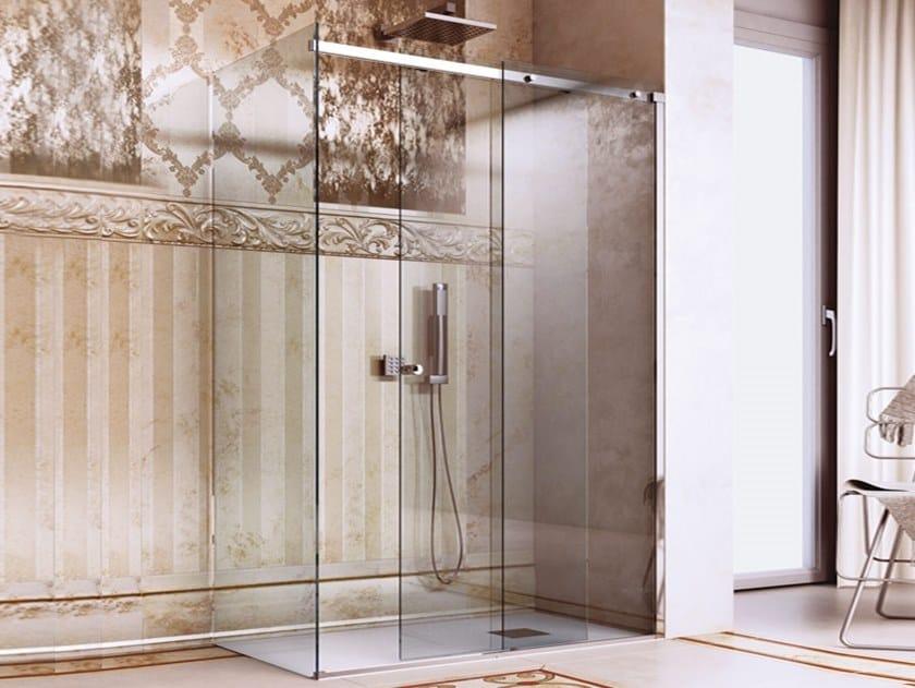 Stainless steel Shower door kit BX-1501 by Metalglas Bonomi