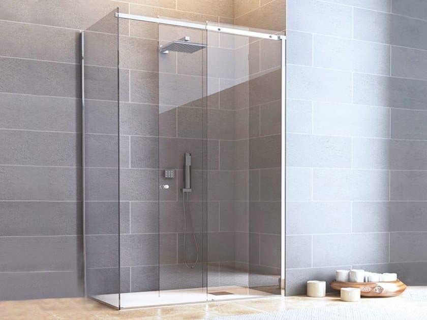Stainless steel Shower door kit BX-1510 by Metalglas Bonomi