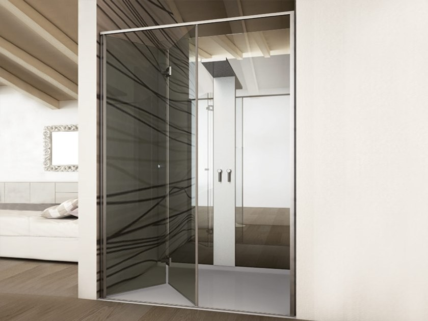 Aluminium Shower door kit BX-2700 by Metalglas Bonomi