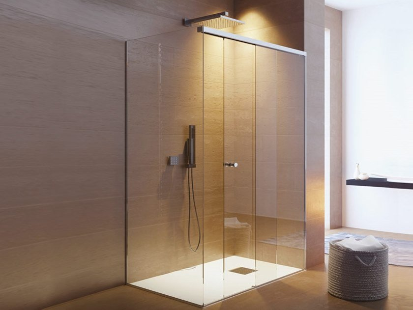 Stainless steel Shower door kit BX-3000 by Metalglas Bonomi