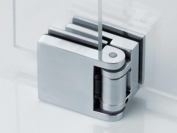 Zamak Shower door hinge BX-303 by Metalglas Bonomi