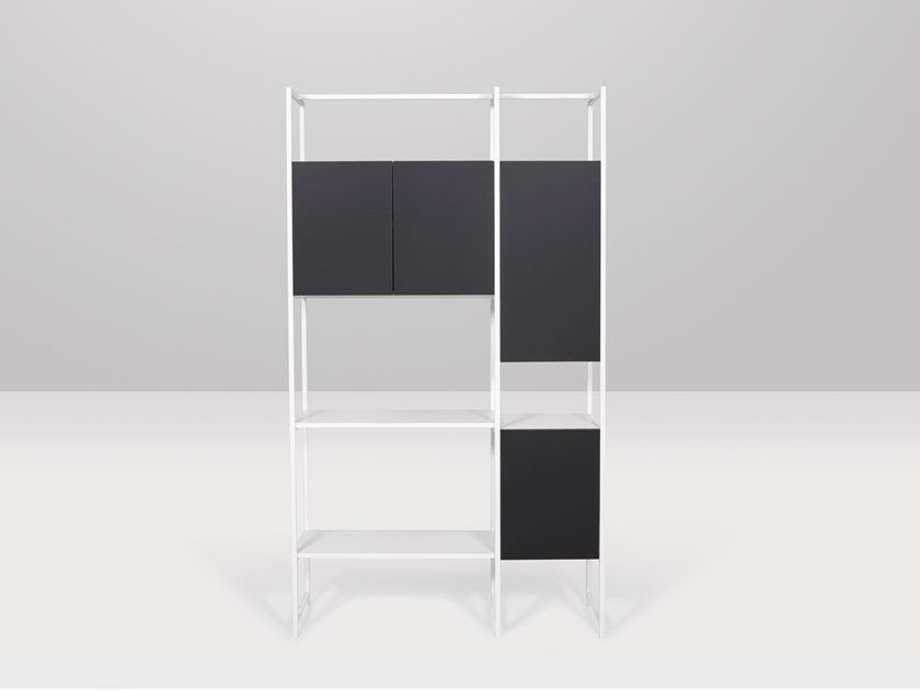 Wall-mounted melamine shelving unit BXL by Recor Home