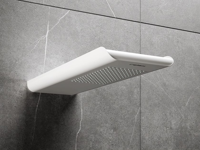 Wall-mounted overhead shower BYBLOS S by RELAX