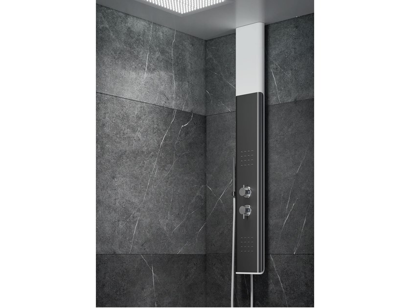 Wall-mounted shower panel for chromotherapy BYBLOS T by RELAX