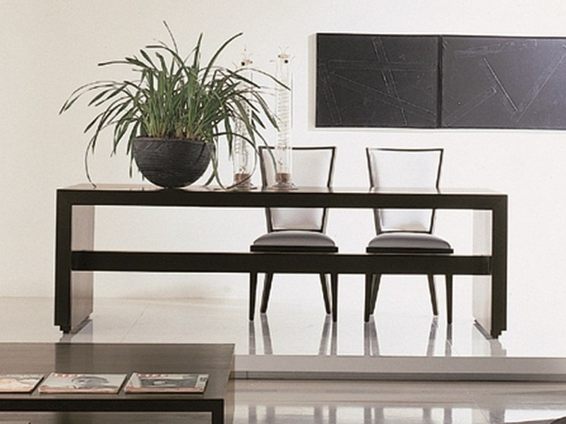 Extending rectangular cherry wood table C 1249 | Table by Annibale Colombo