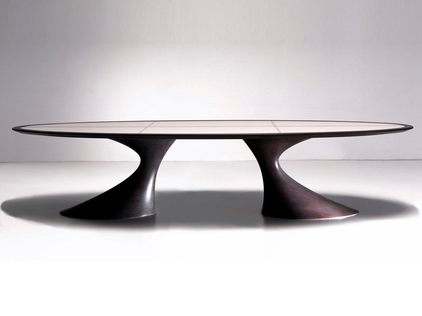 Oval solid wood table BEND | Oval table by Annibale Colombo