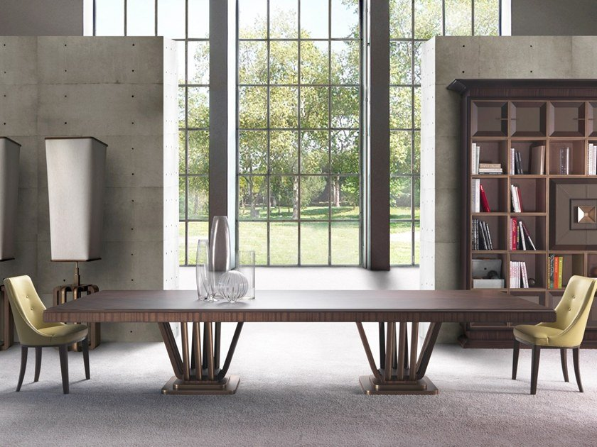 Rectangular zebrano table C 1594 | Rectangular table by Annibale Colombo