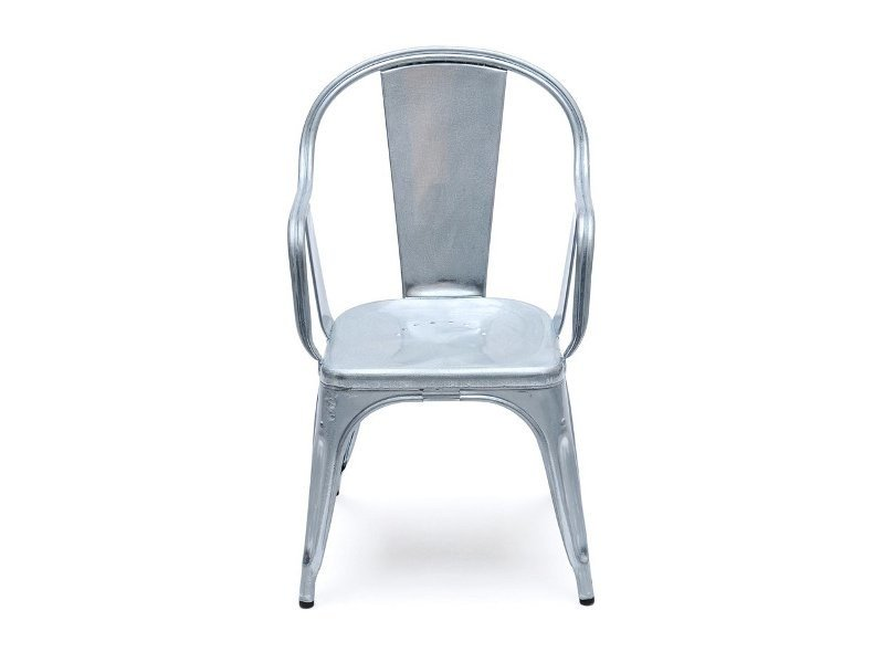 Metal chair with armrests C | Metal chair by Tolix