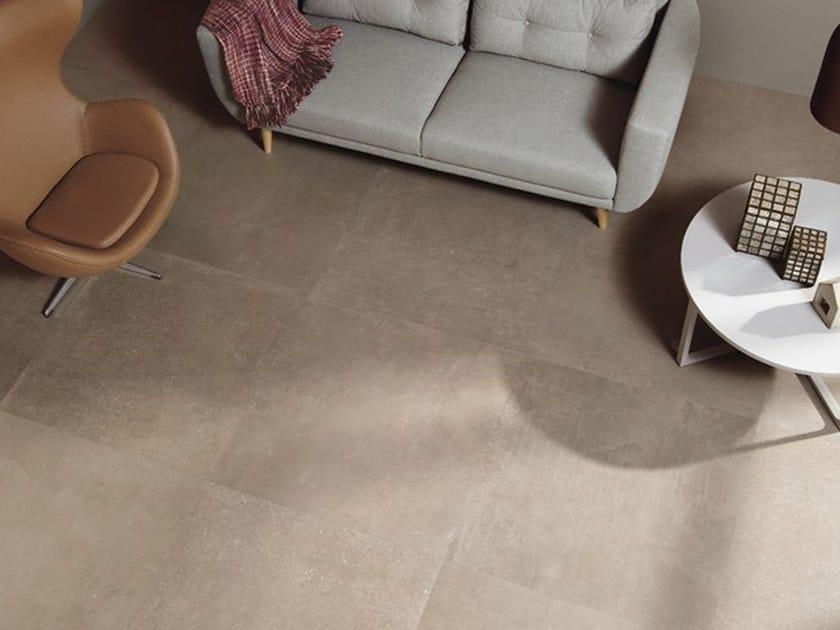 Pavimento/rivestimento in gres porcellanato a tutta massa effetto cemento C_MINE GB by Leonardo