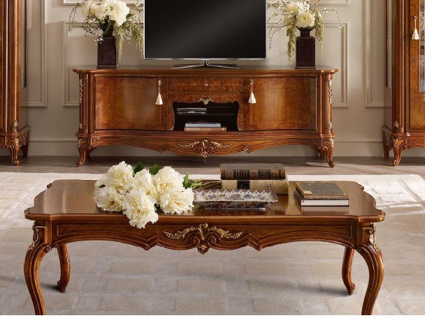 Rectangular walnut coffee table CASA PRINCIPE | Coffee table by Valderamobili