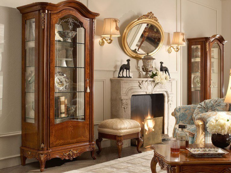 Walnut display cabinet CASA PRINCIPE | Display cabinet by Valderamobili