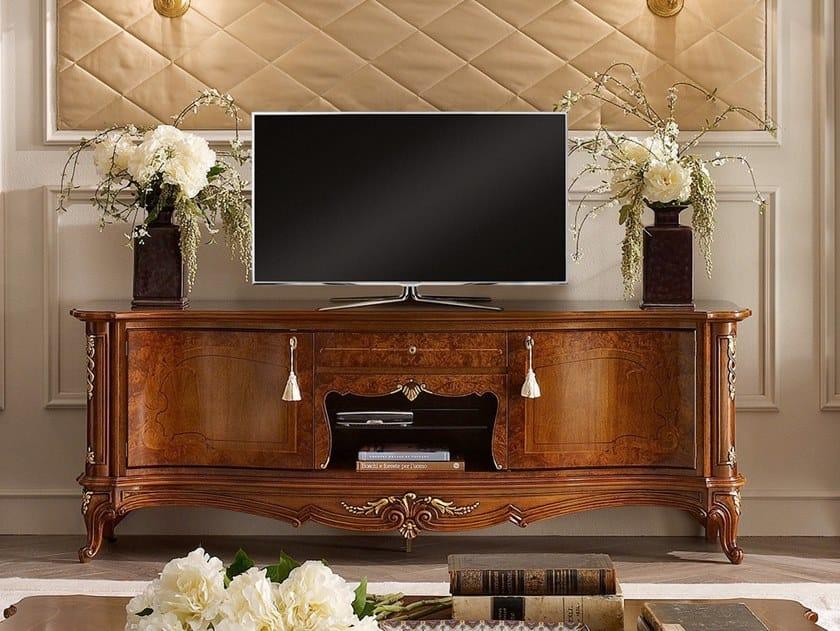 Walnut TV cabinet CASA PRINCIPE | TV cabinet by Valderamobili