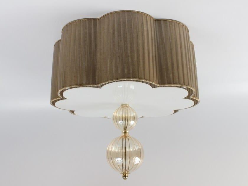 Pleated organza lampshade C004 | Lampshade by Ipsilon PARALUMI