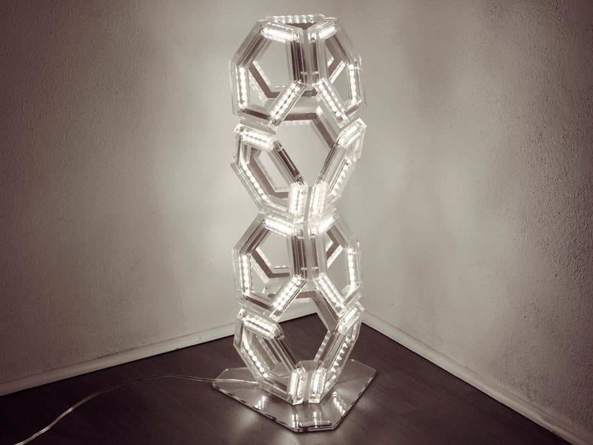 Lampada da terra a LED in PMMA C12 | Lampada da terra by Kriladesign